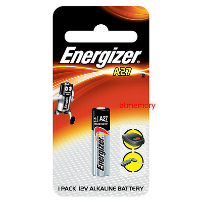 ENERGIZER BATTERY A27 27A Alkaline 12V Car Alarm Single Use Batteries