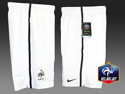 New NIKE FRANCE Federation Shorts White Youth Boys Girls XL Age 13-15 Yrs