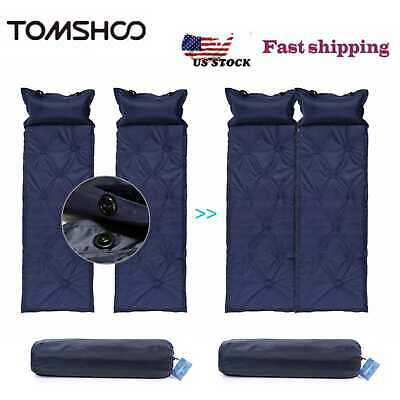 "86"" x 60"" 2 Person Double Sleeping Bag 23F/-5℃ for Outdoor Camping w/ 2 Pillows"