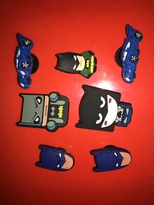7 x Batman Croc Shoe Charms Crocs Jibbitz Wristbands Batmobile Lego Batman