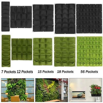 Garden Balcony Planting Growing Bag Wall Vertical Flower Plants Hanging Planter