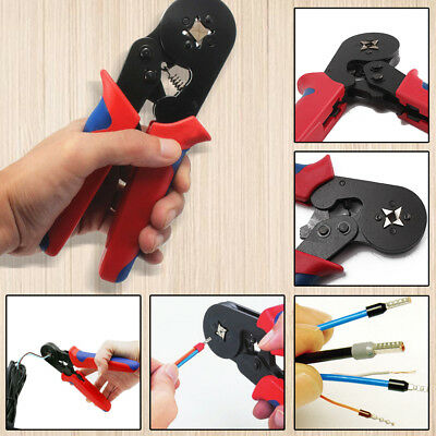 Bootlace Ferrule Crimper Terminal Ratchet Crimping Tool 0.25-10mm² Cord End Lug