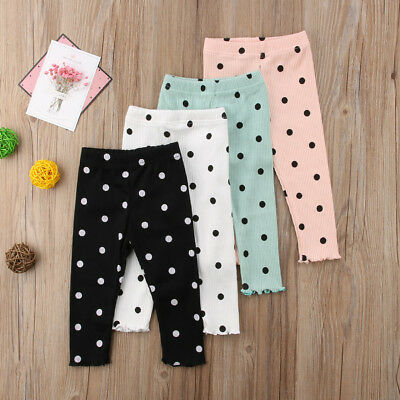 Newborn Baby Girl Clothes Legging Infant Girl Child Lace Long Dot Pants Trousers
