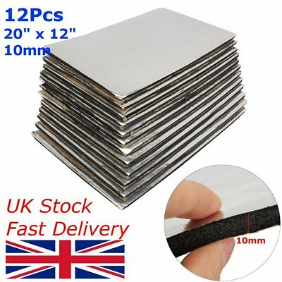 12 Sheets Car Van Sound Proofing Deadening Insulation Closed Cell Foam 10mm