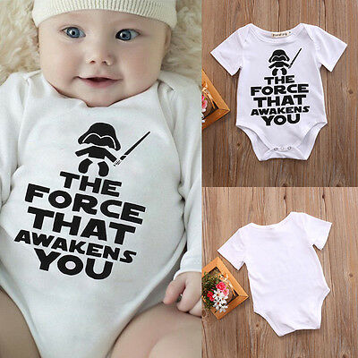 Star Wars Infant Baby Boy Summer Shirt Cotton Romper Bodysuit Clothes Sunsuit