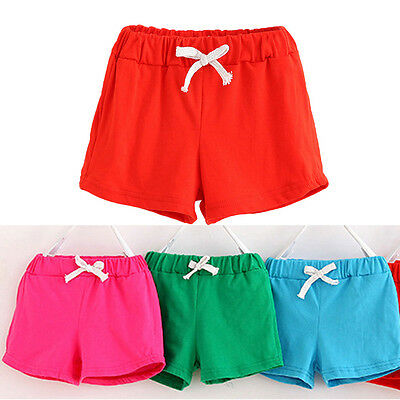 Summer Kid Baby Boys Girls Cotton Casual Shorts Fashion Sport Pants Beach Pants