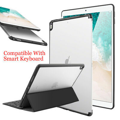 """New iPad Pro 10.5""""/12.9"""" 2017 Clear Back Case Cover Compatible w/ Smart Keyboard"""