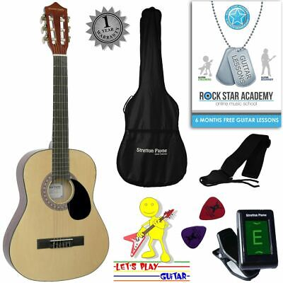 CLEARANCE - Graded C Acoustic Guitar Package 3/4 Sized (36' inch) Classical Nylo