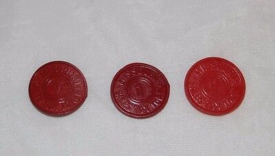 Vintage Lot of 3 Missouri Sales Tax Tokens Free Shipping