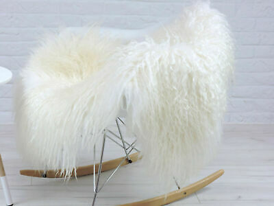 Giant Curly Icelandic Sheepskin Rug Natural Cream Colour Mongolian Style #Ms