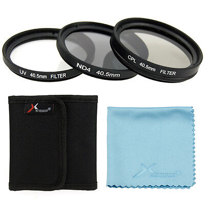 UV CPL ND4 Filter Set 40.5mm + Cloth with SELP 16-50mm LF280