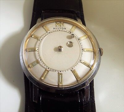 Vintage Hilton Mystery Dial Mens Watch