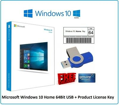 WINDOWS 10 Home 32 / 64 bit Product Activation License Key ...