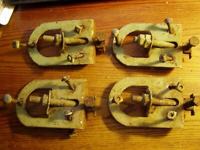 4--Myers SURE GRIP Barn Door Roller mounting brackets with adjusting bolts