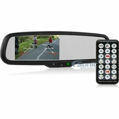 "CRIMESTOPPER Replacement Mirror with 4.3"" Screen & Auto Dimming 