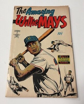 The Amazing Willie Mays #1 Comic Rare Famous Funnies Gc Dc