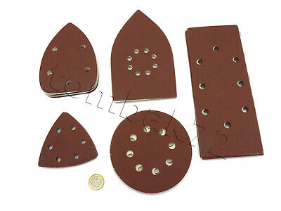 Hook & Loop Punched SANDING SHEETS PADS DISCS Detail Orbital Palm Mouse Sander