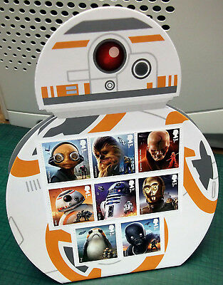 2017 Star Wars - BB8 Display Droid - With all Eight Stamps!