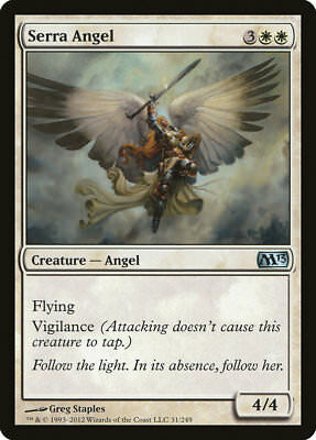 MTG 4x Serra Angel [English, Playset, Magic 2013, Free P&P]