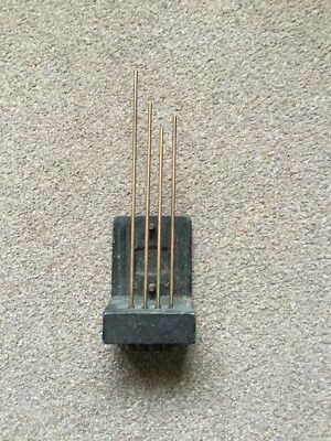 Vintage 4 Rod Chime Clock Gong.