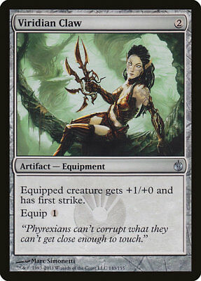 MTG 4x Viridian Claw [English, Playset, Mirrodin Besieged, Free P&P]