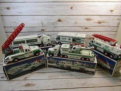 Lot of 5 Hess Trucks 1990s IOB 1994 1995 1996 1997 1998 Collectible Toys Sets