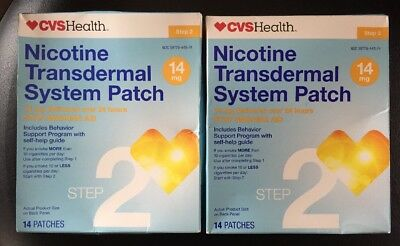 Cvs Nicotine Step 2 Patch 14mg 14 Patches X 2! 28 Total Expires 5/2018