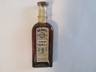 Gilbert's Syrup Squills, Bottle, 1906, Baltimore, Opium, Morphine, Drugs