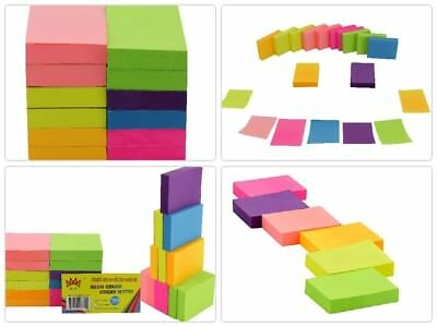 Post It Neon Color Sticky Notes Pop Up Memo Reminder 12 Pads 100 Sheets 1-1/2X2