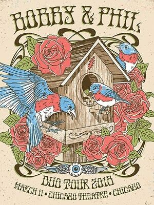 Bobby Weir & Phil Lesh Duo Tour Chicago 2018 Poster GIGART AEGrateful Dead