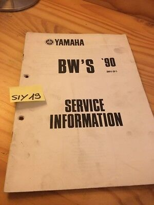 Yamaha BW'S 1990 scooter BWS service information technique technical data