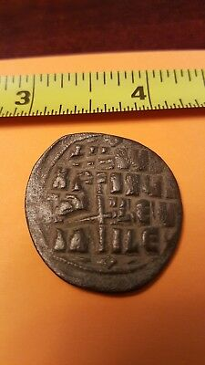 Ancient Roman Byzantine coin Artifact , Metal detector find