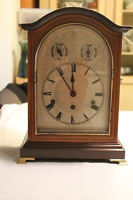 Edwardian mahogany striking bracket clock  by Kienzle in good working order.