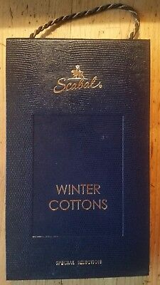 SCABAL London Stoffe Stoffmuster Mappe WINTER COTTONS Special Selection 1883