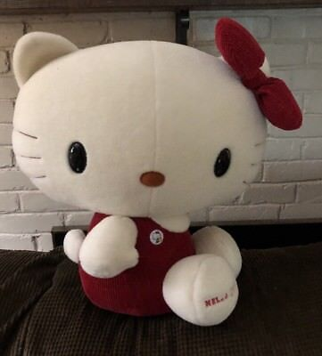 HELLO KITTY Large Plush Stuffed Toy Red Bow Sanrio Hard to Find Super Cute!
