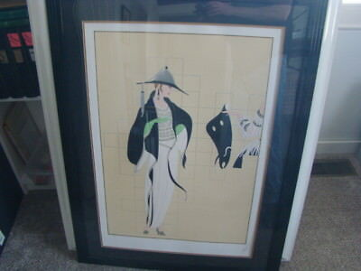 "Erte  ""Haute Couture"" Signed Serigraph Limited Edition 141/300 Framed Very Nice!"