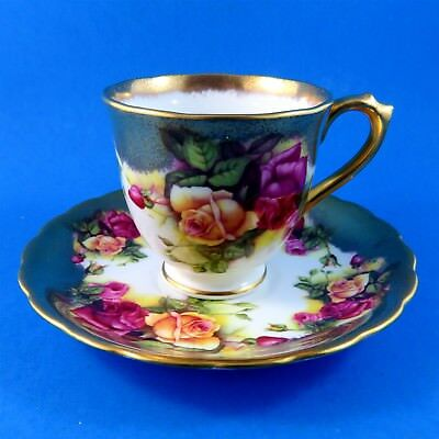 Royal Chelsea Golden Rose Demitasse Tea Cup and Saucer