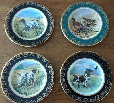 4 Small Arklow Pottery plates,animal scenes