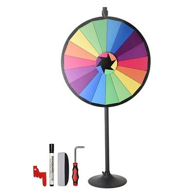 """WinSpin® 36"""" 18 Slots Largest Prize Wheel w/ Stand Fortune Spin Game Carnival"""
