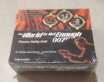 1999 Inkworks James Bond The World Is Not Enough - Factory Sealed Box of 36 Pcks