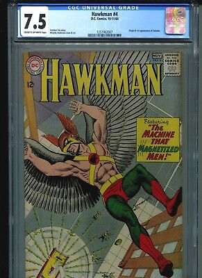 Hawkman #4 CGC 7.5 (1964) Origin & First 1st Appearance of Zatanna