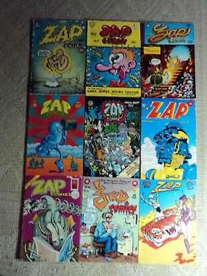 COLLECTION of ZAP COMIX, ISSUES 0 2 3 4 5 6 7 8 10