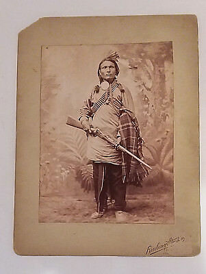 Fantasy Re Created Photo Native American Indian Rifle Bullet Feathers