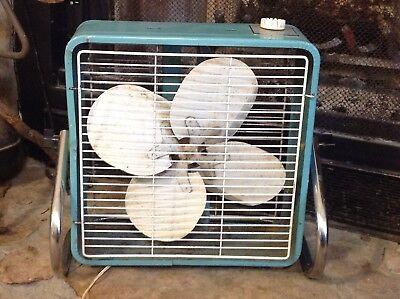 Nice Vtg Superlectric Turquoise 3 Speed Fan