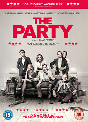 The Party DVD (2018) Patricia Clarkson, Potter (DIR) cert 15 Fast and FREE P & P