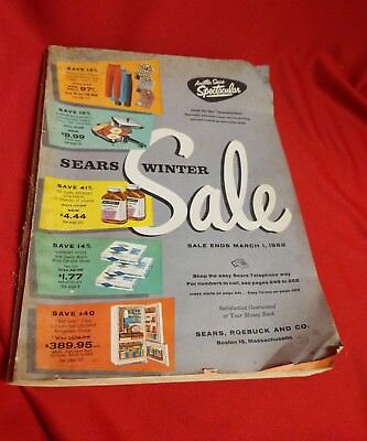 1958 Retro Sears Winter Sale Catalog - 392 PAGES - Color w/ Inserts