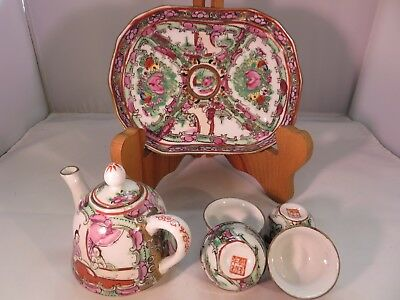 Vintage Oriental Hand Painted 7 Piece Tea Set