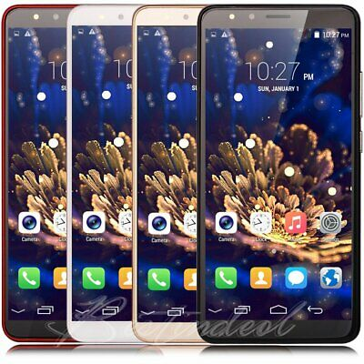 """5.5"""" Inch Factory Unlocked Android 8.0 Cell Smart Phone Quad Core 2 SIM 3G GPS"""