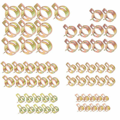 60 Pcs 6-15mm Spring Clips Fuel Oil Water Hose Clips Pipe Tube Clamps Fastener