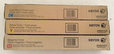 ( Lot of 3 ) Xerox 006R01220 006R0121 006R01222 CMY DocuColor 240 242 Toners